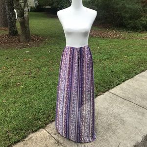 Xhilaration Sheer Maxi Skirt L